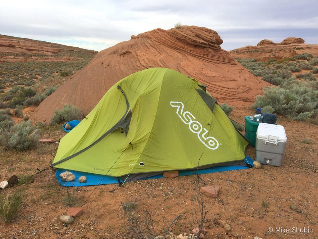 Asolo tent set up near Lake Powell